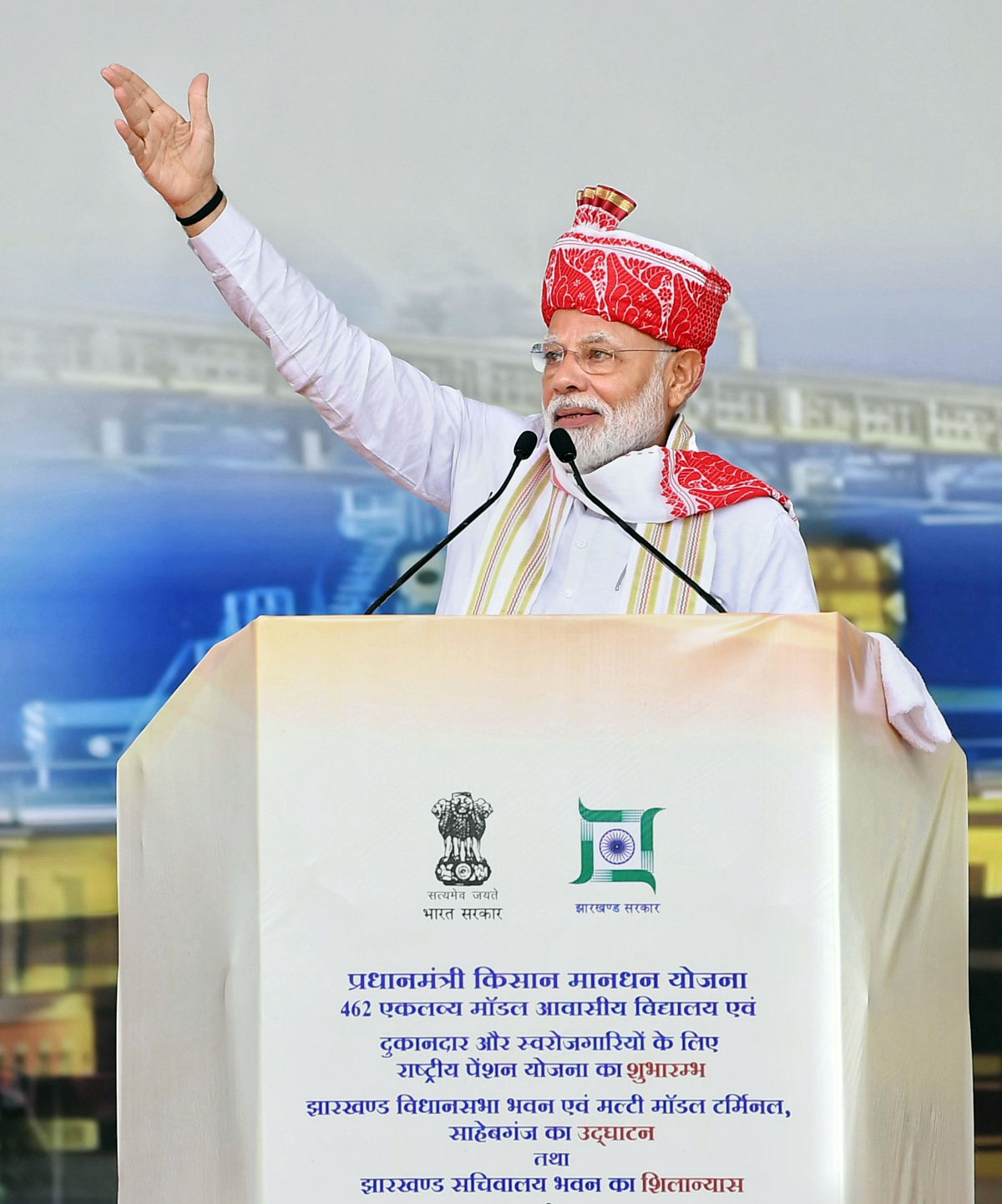 Prime Minister, Narendra Modi addressing at the inauguration of various development projects, in Ranchi, Jharkhand on Thursday.
