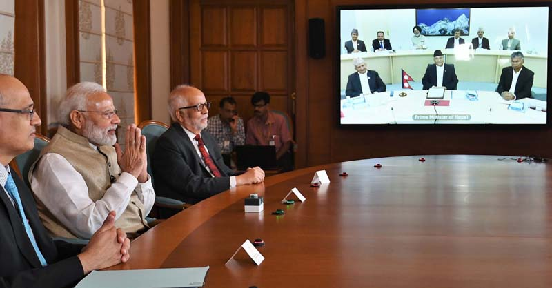 Prime Minister Narendra Modi jointly inaugurated the South Asia's first cross-border petroleum products pipeline from Motihari in India to Amlekhgunj in Nepal, through video conference from New Delhi on Tuesday. (UNI)