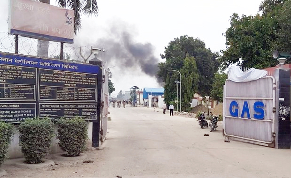 A gas tank has exploded at Hindustan Petroleum Corporation Plant in Unnao.