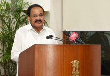 Vice President, M. Venkaiah Naidu addressing the students from Sharada Residential School, Manipal, Karnataka, who have visited NASA and other places in the United States of America, in New Delhi on Friday.