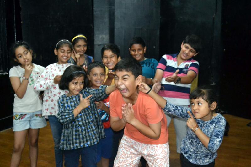 A scene from the play 'Gandagi, Nahi Hai Meri Zindagi' staged by Natrang at Jammu on Sunday.