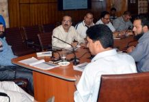 Advisor Farooq Khan chairing a meeting on Thursday.