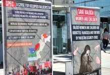 Posters prepared by Baloch activists.