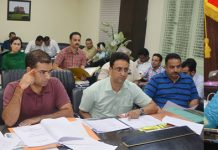 DDC Sushma Chauhan chairing a meeting on Thursday.