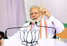 Prime Minister Narendra Modi addressing an election rally at Jalgaon in Maharashtra on Sunday.