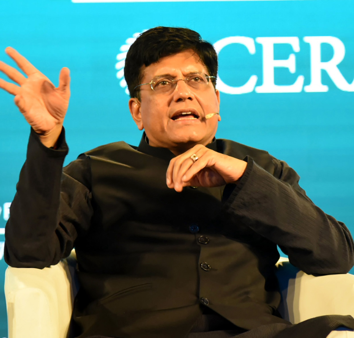 Union Minister for Railways and Commerce & Industry, Piyush Goyal at the third India Energy Forum, in New Delhi on Tuesday.