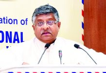 Union Minister for Law & Justice, Communications and Electronics & Information Technology, Ravi Shankar Prasad addressing at the culmination of the National Postal Week, in New Delhi on Tuesday.