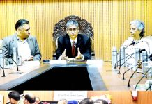 Justice Dhiraj Singh Thakur speaking during Orientation, Consultation Prog on Juvenile Justice Act.