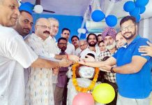 BJP General Secretary Yudhvir Sethi inaugurating two-wheeler dealership.