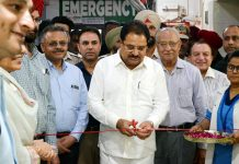 "OP Soni, Cabinet Minister Punjab inaugurating India's First ""Feel Foot"" Centre at Amandeep Hospital, Amritsar."