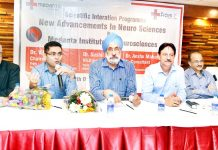 Doctors from J&K and Medanta Institute of Neurosciences during a CME at Jammu.