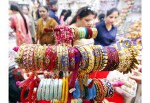 Preparations for Karva Chauth..... —Excelsior/Rakesh
