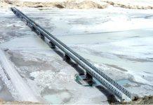Col Chewang Rinchen Bridge built between Durbuk & Daulat Beg Oldie in Eastern Ladakh.
