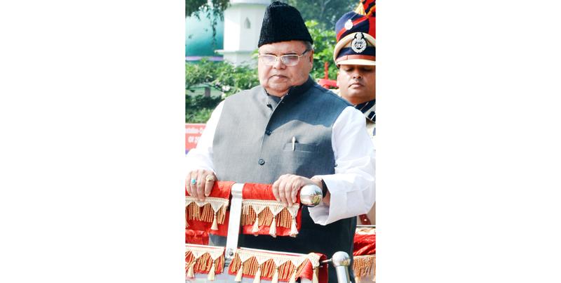 Governor Satya Pal Malik at PTC Kathua on Monday. -Excelsior/ Pardeep Sharma