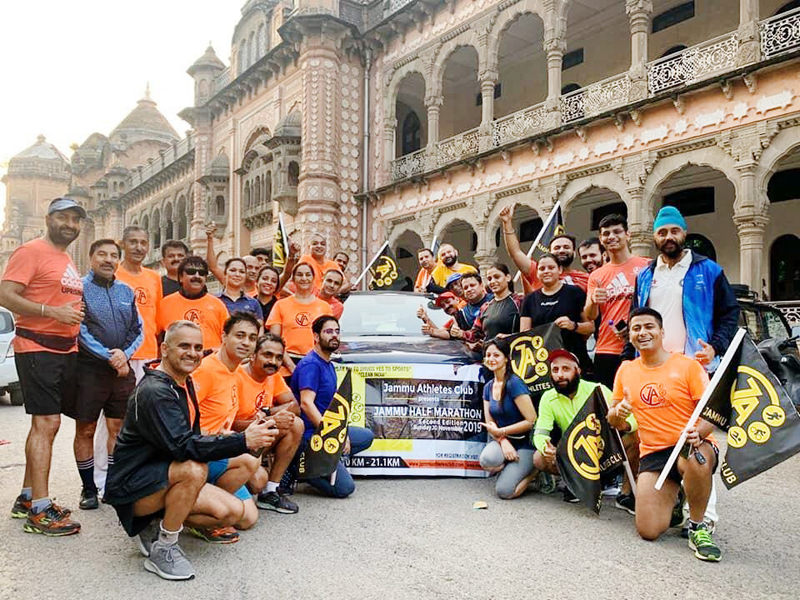 JAC members posing for a group photograph after sweating-it-out in Promotional, Heritage Run.
