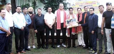 Kreeda Bharti J&K honouring Rajan Sharma in a function at Indoor Complex, MA Stadium, Jammu.