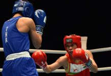 Mary Kom in action during World Women's Boxing Championship.