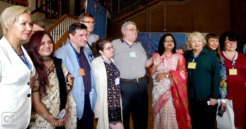 Nupur Sandhu with other participants at International Literary Festival at Russia.