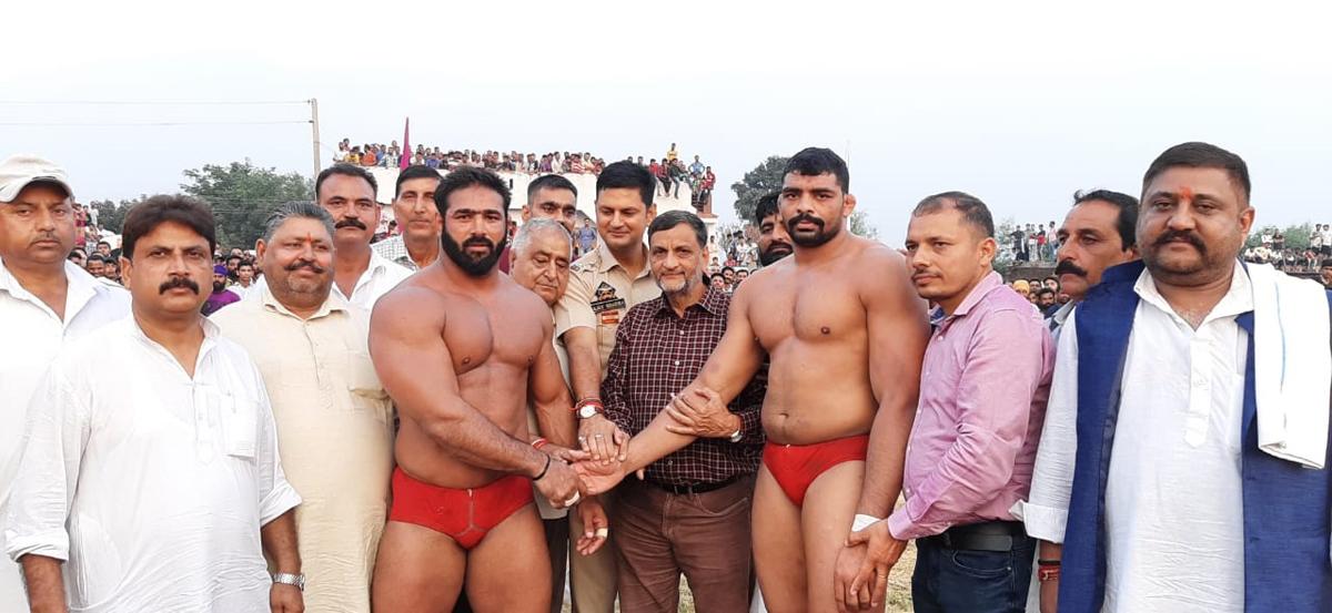 Winner of Sunail Dangal title being honoured on Monday.