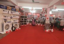IFB electrical appliances at display during Diwali exhibition at Trikuta Nagar, Jammu.