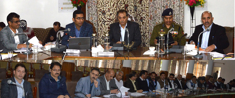 Divisional Commissioner Baseer Khan chairing a meeting on Friday.