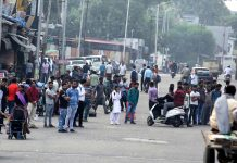 Commuters suffering as public transport remained off the roads in Jammu on Thursday. —Excelsior/Rakesh
