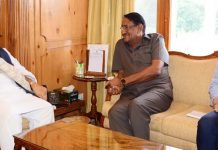 Governor Satya Pal Malik meeting Dr Bijender Singh, Chairman NAFED on Tuesday.