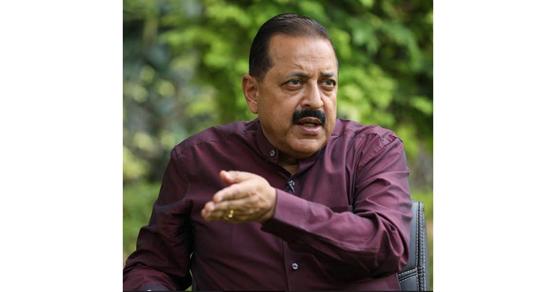Union Minister Dr Jitendra Singh during an interaction with media at New Delhi on Wednesday.