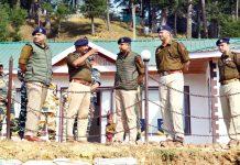 DGP Dilbag Singh during visit to Kupwara district.