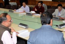 Chief Secretary BVR Subrahmanyam chairing FAC meeting on Monday.