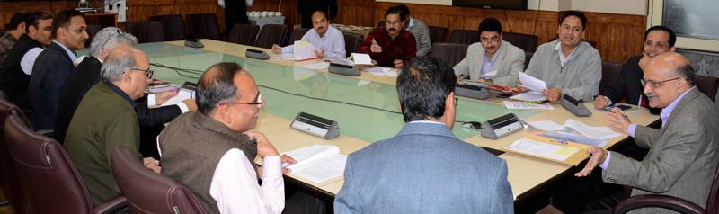 Chief Secretary BVR Subrahmanyam chairing FAC meeting on Monday.