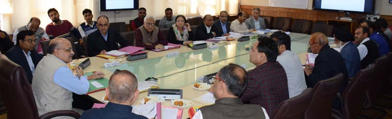 Chief Secretary BVR Subrahmanyam chairing FAC meeting on Wednesday.