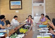 Director Tourism, Deepika Sharma chairing a meeting on Monday.