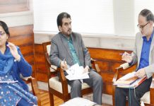 Advisor Farooq Khan chairing a meeting on Wednesday.