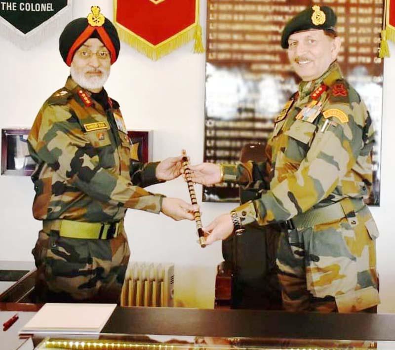 Lt Gen Y K Joshi handing over command of Fire & Fury Corp to Lt Gen Harinder Singh.