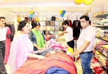 Customers having glimpse of the products in newly opened Yougal Sons showroom at Basant Nagar Janipur, Jammu. -Excelsior/Rakesh