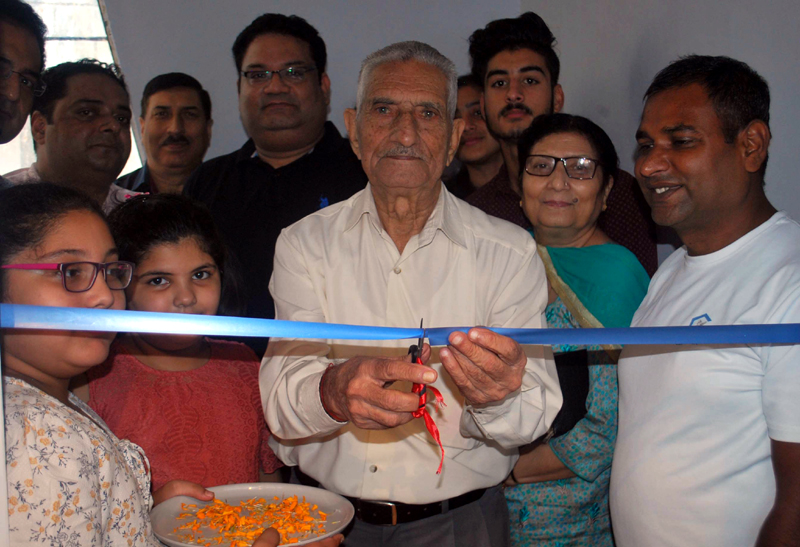 Commissioner Bharat Scouts and Guides, I.D Soni inaugurating 'Craftsmen' outlet at Jammu on Tuesday. —Excelsior/Rakesh