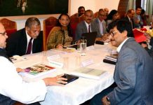 Governor Satya Pal Malik chairing Jammu Cluster University Council meeting on Tuesday.