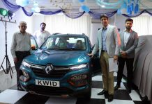 Dignitaries launching all new Kwid in Jammu.