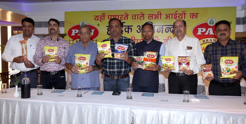 Dignitaries launching food products of Pan Brand in J&K. -Excelsior/Rakesh