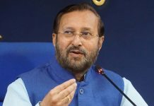 Union Minister for Environment, Forest and Climate Change and Minister of Information and Broadcasting Prakash Javadekar briefing newsmen about the cabinet decision,in New Delhi on Wednesday. (UNI)