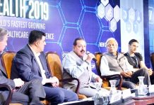 Union Minister Dr Jitendra Singh delivering keynote address at Asian Health 2019 Summit at New Delhi on Thursday.