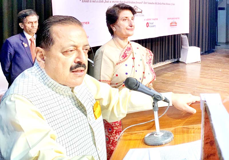 Union Minister Dr Jitendra Singh addressing the Curtain Raiser event, as chief guest, on the eve of