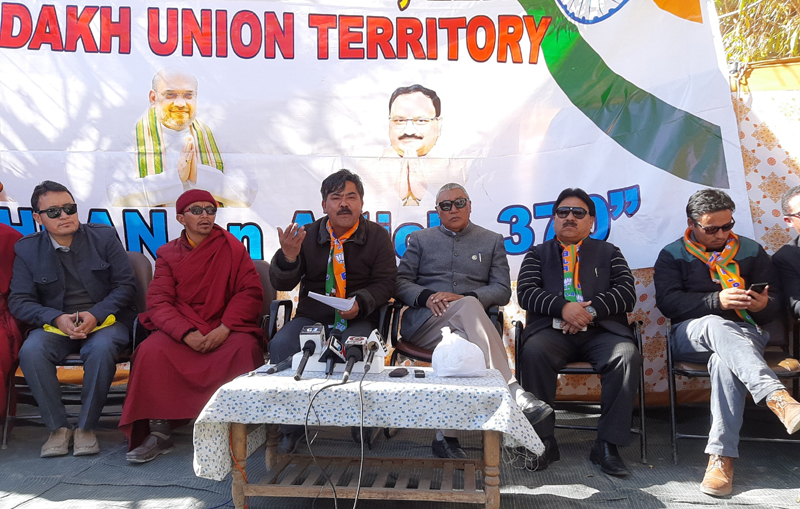BJP Leh Unit during a function on Saturday. -Excelsior/ Morup Stanzin