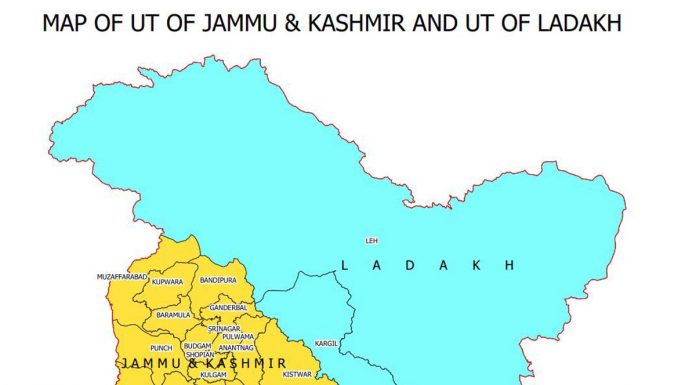 3 PoK distts included in J&K UT map; Gilgit, Tribal Territory in Ladakh