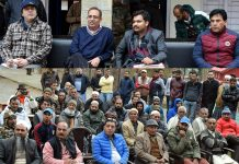 Principal Secretary Planning Rohit Kansal interacting with people during Gram Sabha in Udhampur.