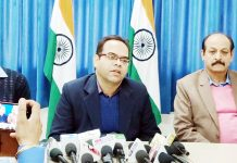 Director Postal Services (HQ), J&K Postal Circle, addressing media on Monday.