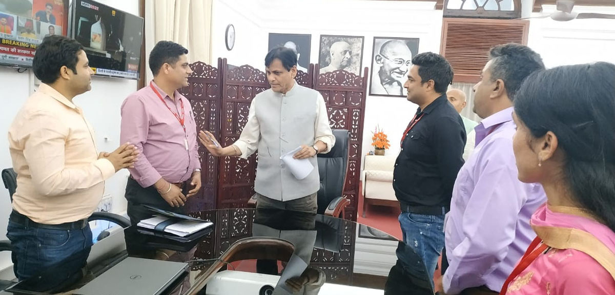 YAIKS delegation during a meeting with MoS Home Nityanand Rai at New Delhi.