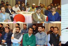 Deputy Commissioner Srinagar, Shahid Iqbal Choudhary addressing the gathering on Saturday.