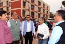Principal Secretary Estates Rohit Kansal inspecting arrangements for Darbar Move employees.